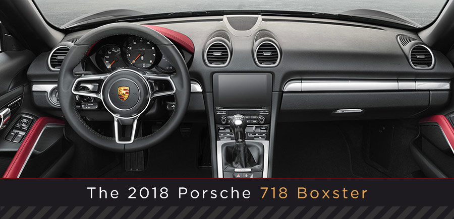 Porsche 718 Boxster Model interior